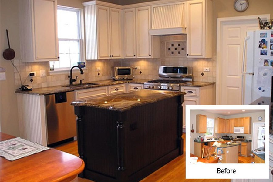 refaced kitchen cabinets before and after cabinet refacing gallery cabinets kitchen and bathroom 9209