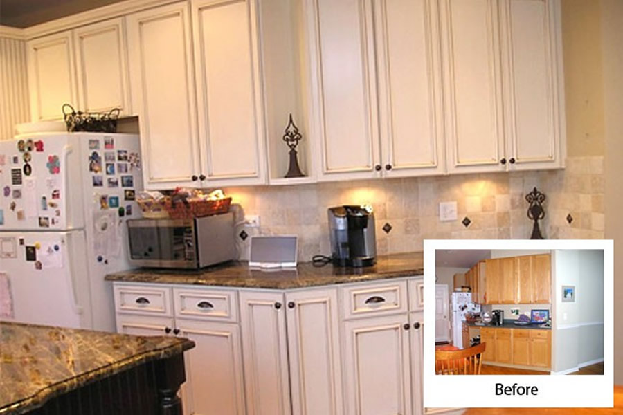 Bon ... Cabinet Refacing Before And After ...
