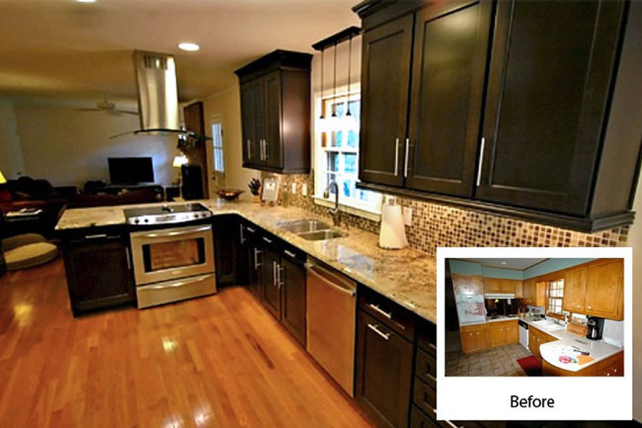 Cabinet refacing gallery cabinets kitchen and bathroom for Refinishing kitchen cabinets before and after