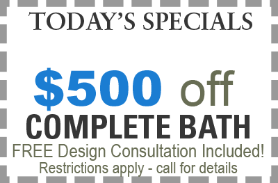 save $500 on bath remodeling in Chicago with Cabinet Pro