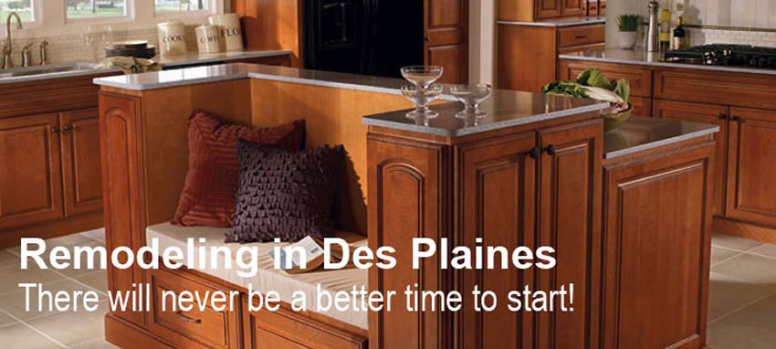 Kitchen and Bath Remodeling in Des Plaines IL New Cabinets and
