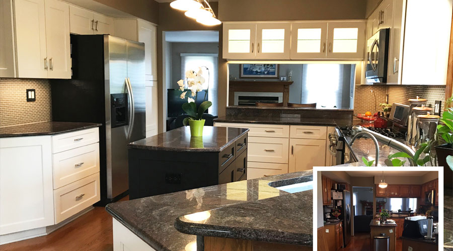 Il Kitchen Remodel Before And After In Northbrook