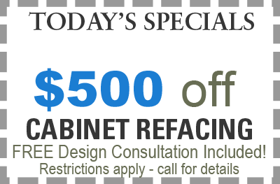 save $500 on cabinet refacing in Chicago with Cabinet Pro
