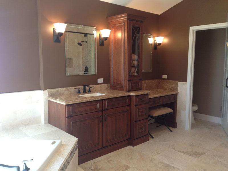 bath remodel by cabinet pro