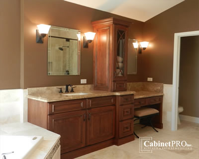 Hawthorn Woods Bath Remodel by Cabinet Pros